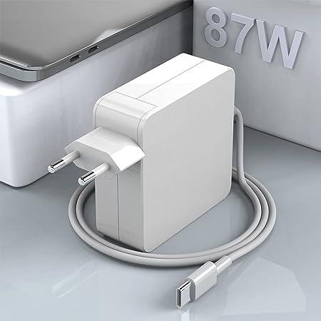 Cargador Rocketek 87W USB C, Compatible con Todos Los Teléfonos Inteligentes Y Portátiles con Puerto USB C o C, Apto para Nuevos Modelos De Mac Book Air, Lenovo, ASUS, Huawei, HP, etc.