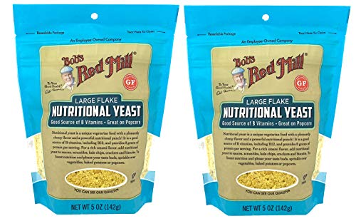 Bob's Red Mill Large Flake Nutritional Yeast 5 Ounce (Pack of 2) Vegan Parm Cheese Replacement