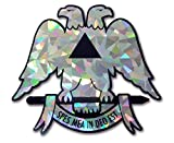 Scottish Rite Double-Headed Eagle Reflective Decal