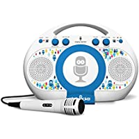 Singing Machine Tabeoke Portable Bluetooth Karaoke System Compatible with a Variety of Karaoke Apps (White)