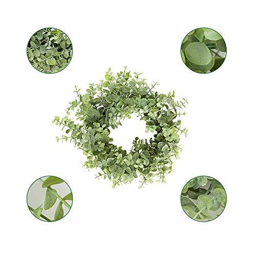 xiamenchangketongmaoyi Planta Artificial Eucalipto Artificial Artificial de Hojas Garland Hojas Artificiales para la decoración de la Cocina De plástico de Hojas Green