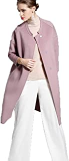 Womens Coat Double-faced cashmere Outwear Winter Long Casual Outerwear Blend Single Breasted Maxi Jacket Keep It Simple Warm