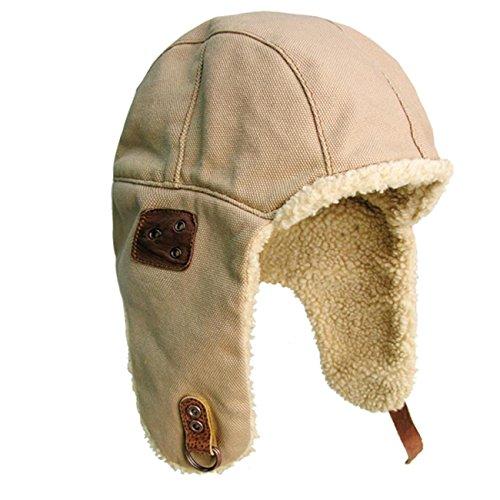 Kakadu Traders Australia Kakadu Traders Wintermütze Skimütze Flieger-Mütze Chapka mit Teddyfell | Herren Damen Unisex Größe