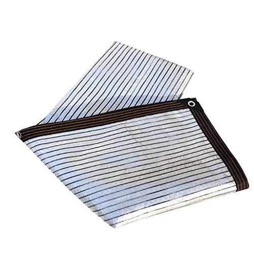 Schattennetz Aluminiumfolie Sonnenschutz net, multifunktionale Sonnenschutz-Plane, tragbarer Sonnenschutz Stoff Garten Sonnenschirm net, schützt effektiv die Privatsphäre von Zäunen und Terrassen scha
