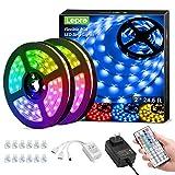 Lepro LED Strip Lights Kit, 50ft Ultra-Long RGB LED Light Strips, Dimmable Color