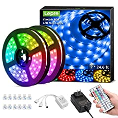 Color Changing Strip Lights:The Led Strip Lights provide the primary Red, Green, Blue (RGB) and white, and also 16 multicolored options. With 6 DIY color and 8 models, adjustable brightness, you can DIY your favorite color to decorate your room. Easy...