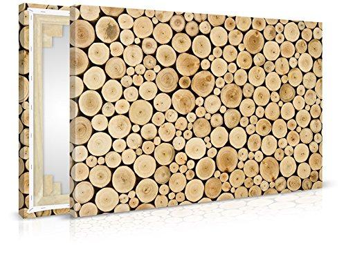 XXL-behang canvasfoto Wood Stump - klaar opgespannen - schilderijen, kunstdruk, wandschildering, spieraam, afbeelding op canvas van trendy muren 90x60cm