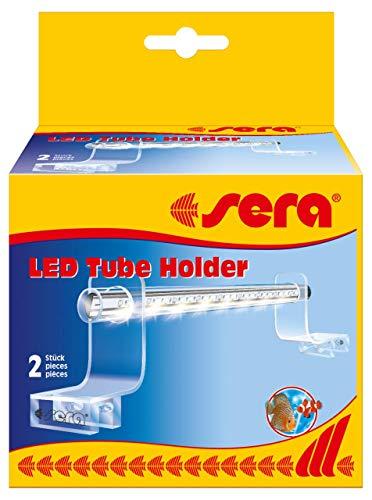 Sera 31292 LED Tube Holder Clear Acrylglashalterung, 2 Stück, Silber