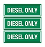 Diesel Only Sticker Sign (Pack of 3) |...