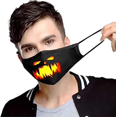 StyleV Halloween Face Cover Reusable-1PC Unisex Novelty Washable Funny Breathable Bandana Cosplay Neck Gaiter Men Filter