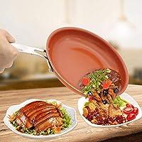 パン銅鍋をフライパンセラミック電磁調理器鍋ノンスティックのフライパンの銅、10インチ2.3ミリメートル CT55CT (Color : 10 Inch 2.5mm)