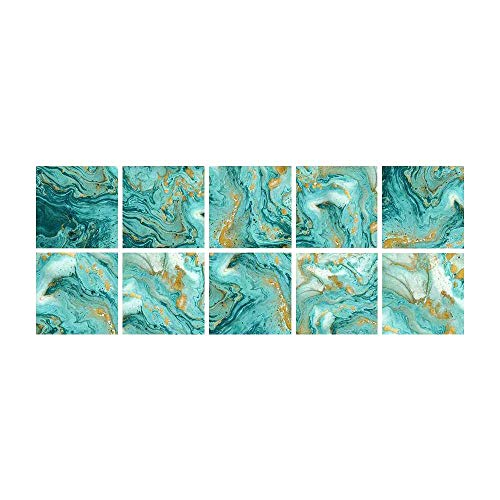 XJF 10 pegatinas autoadhesivas para azulejos de cocina, 20 x 20 cm