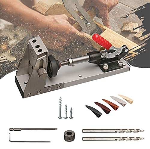 BOVDC Pocket Hole Jigs for Woodworking Kit, Oblique Hole Locator Carpentry Locator Accurate and Convenient Pocket Hole Screw for Woodworking Drilling Holes Guide Wood Tools
