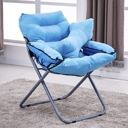 Hmg Creative Lazy Sofá Plegable Sala de Estar Sofá Individual Silla Tatami Lounge Chair con Almohada (Café) (Color : Blue)