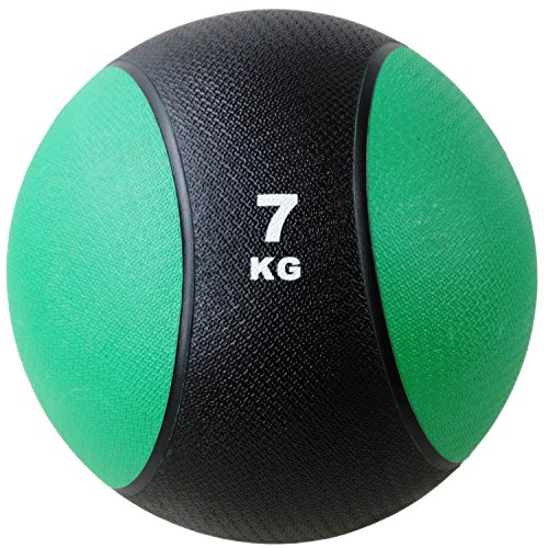 BodyRip 7kg Rubber Med Ball | Heavy Duty, Durable | Functional Strength Training, Home Gym, Fitness Exercise, Weight Lifting, Fat Loss, Ripped, Calisthenics, Workout, Cardio, MMA