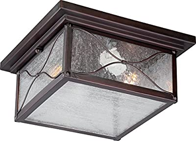 Nuvo Lighting Vega Large One Light Wall Lantern 100-watt A19 Outdoor Porch and Patio Lighting with Clear Seeded Glass