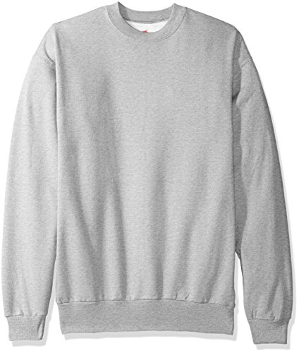 Hanes Men's Ecosmart Fleece Sweatshirt, Light Steel, Large