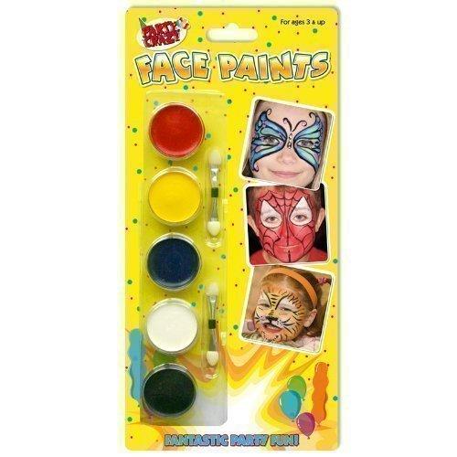 Enfants Fête Peinture Visage Maquillage Kit De Peinture Visage Rouge Noir Bleu Blanche