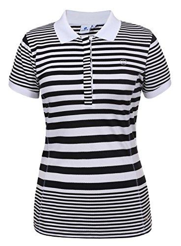 LUHTA dames poloshirt FAINI 39209-432 990 zwart-wit/functioneel shirt, maat: XXL