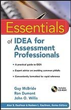 Essentials of IDEA for Assessment Professionals (Essentials of Psychological Assessment Book 86)