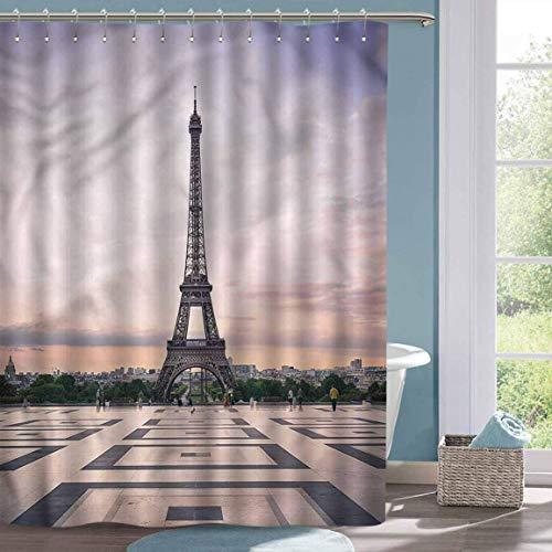 N\A Cortina de Ducha pequeña Paris Trocadero y Cortina de Ducha de la Torre Eiffel