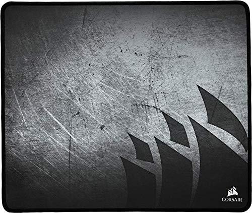 Corsair MM300 - Alfombrilla de ratón para juego (superficie paño antidezgaste), Tamaño Medio,  Negro