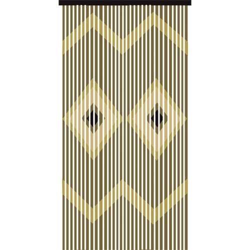 JVL Provence Hängevorhang, mit Holzperlen, Pfeilmuster, Holz, Mehrfarbig, 180 x 3 x 90 cm