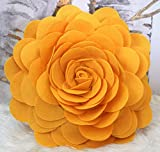 Best Flower Pillows - Rose Pillow, Flower Pillow - 3D Rose Throw Review