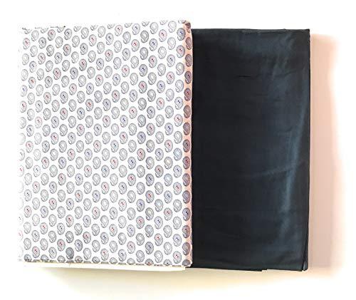 Zucchi Bettwäsche-Set für Doppelbett aus Reiner Baumwolle Modell Cachemire Farbe unter Blau Oben Weiß mit Mustern. 240 x 280 cm