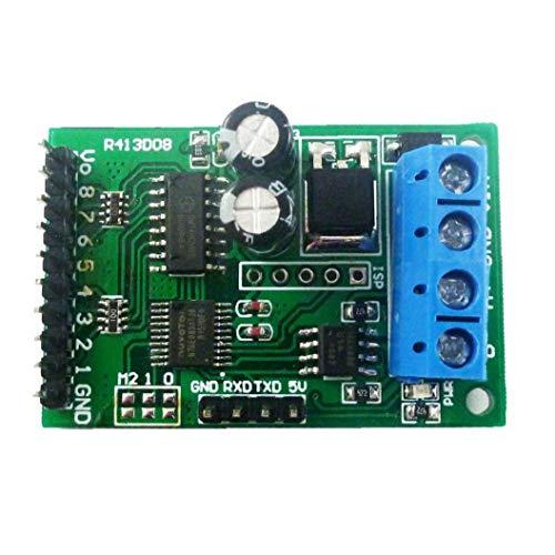 DierCosy Tools Relaismodul 8-Kanal-Relais-Steuermodul Brett MODBUS RS485 TTL RTU DC 6-24V-Relay-Switch Controller Board
