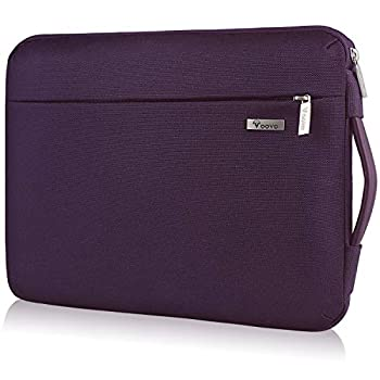 Voova Laptop Sleeve Case 11 11.6 12 Inch 360° Protective Computer Cover Carry Bag Compatible with Acer Chromebook R11 MacBook Air 11 Surface Pro X 7 6,Surface Laptop Go 12.4,HP Asus Notebook,Purple