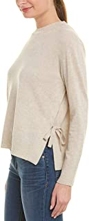 Womens Side-Tie Cashmere Sweater, L, Beige