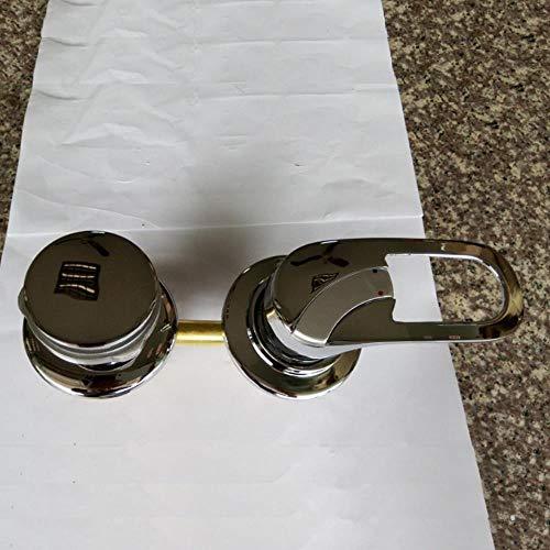 Baño HEHUANG 2/3/4/5 vías Salida de agua Grifo de ducha de latón Tornillo/intubación Cabina de ducha Cuarto de ducha Grifo de válvula mezcladora, 3 vías de intubación, 14.5CM