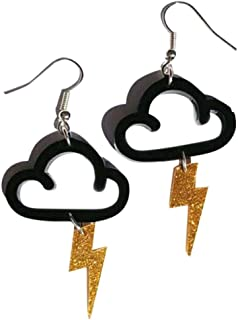 rainbow cloud earrings
