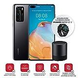 Huawei P40 Smartphone e Bluetooth Speaker, Acoustic Display da 6.1', Tripla Fotocamera Leica da 50+16+8MP, Kirin 990 5G Octa Core, Nero (Versione Italiana)