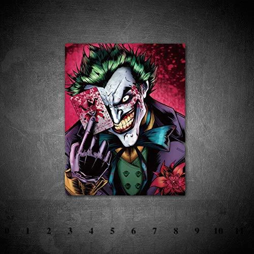 BLOUR DC Villain Joker Clown Graffiti Adesivi PVC Impermeabile in Vinile per Casco da Bicicletta per Auto per Bagagli