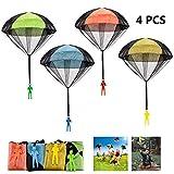 FUNVCE Fallschirm Spielzeug Kinder, 4 Stück Fallschirmspringer Hand werfen Fallschirm Outdoor...