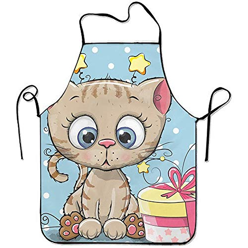 zhengshaolongG Fashion Delantals for Women Delantals for Kids Girl Cute Kitten with Gift Kitchen Woman Delantals