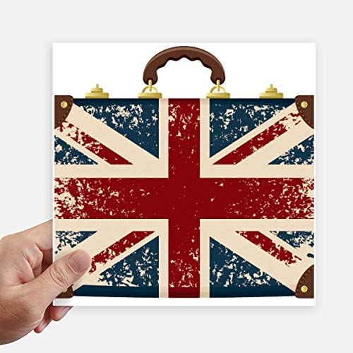 DIYthinker Union Jack Retro koffer Groot-Brittannië Vlag Cultuur Vierkante Stickers 20Cm muur koffer Laptop Motobike Decal 4 Stks