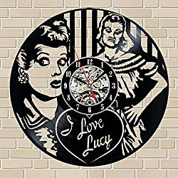I Love Lucy Record Clock,I Love Lucy Wall Decor, Lucy Handmade Home Decor, I Love Lucy Vinyl Wall Clock, Gifts for men