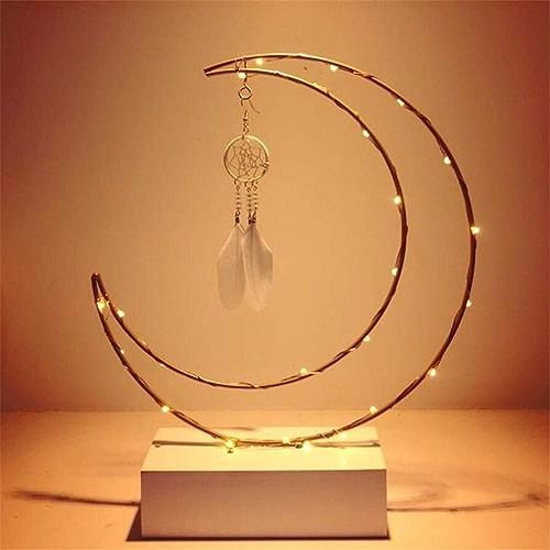 Veilleuse Corée Insigne De Rêve Chaud Nuit Rouge Lumière Fille Décoration Décoration Rohommetique Petite Amie Cadeau Chevet Lune Lumière