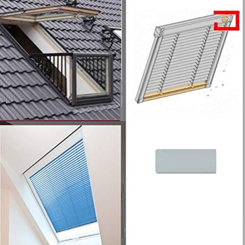 generisch Dachfenster-Jalousie Skyline_Jalousette PAL für VELUX Cabrio Fenster GDL SK19 (SK10 + SK04)_Farbe HELLGRAU (SK10)