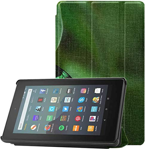 Cover Fire7KindleCase Flying Colorful Butterfly Insect KindleFire72019Case For Fire 7 Tablet (9th Generation, 2019 Release) Lightweight With Auto Sleep/wake