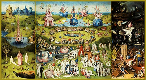 1art1 Hieronymus Bosch - Der Garten Der Lüste, 1500 Poster Kunstdruck 145 x 80 cm