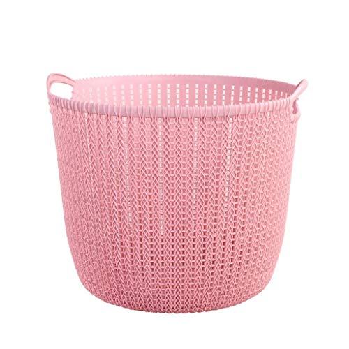 Shcro Cesta de Almacenamiento de Escritorio de plástico Cesta de Almacenamiento de Ropa Rosa Cesta de Almacenamiento Decorativa Transpirable Verde (Size : 30.4×26.5cm)