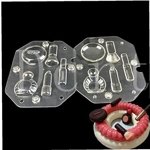 3D Chocolate Moldes Cosmética Kit Forma De Policarbonato Chocolate De Fabricación De Moldes De Repostería De Dulces Herramientas