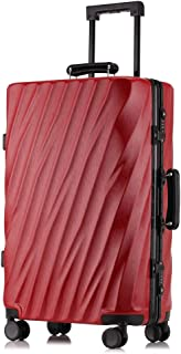 SMLCTY Trolley Case,carry On Luggage,carryon Luggage With Spinner Wheels, Aluminum Frame Pull Rod Box,20 Inches, 24 Inches, 26 Inches (Color : Red, Size : 20 inches)
