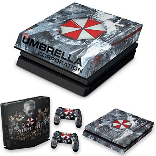 Capa Anti Poeira e Skin para PS4 Slim - Resident Evil Umbrella
