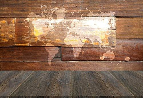 EdCott 9x6ft Textura Madera Retro Foto Telón Fondo