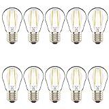 Lampadine LED a Sfera, Attacco Edison E27, 2W equivalenti 20W, luce Bianca Caldo 2700K- confezione da 10